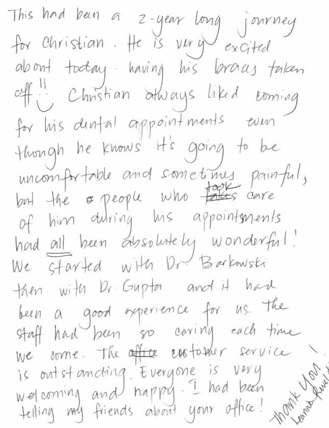 raving review for gupta orthodontics | tomorrow's orthodontics today